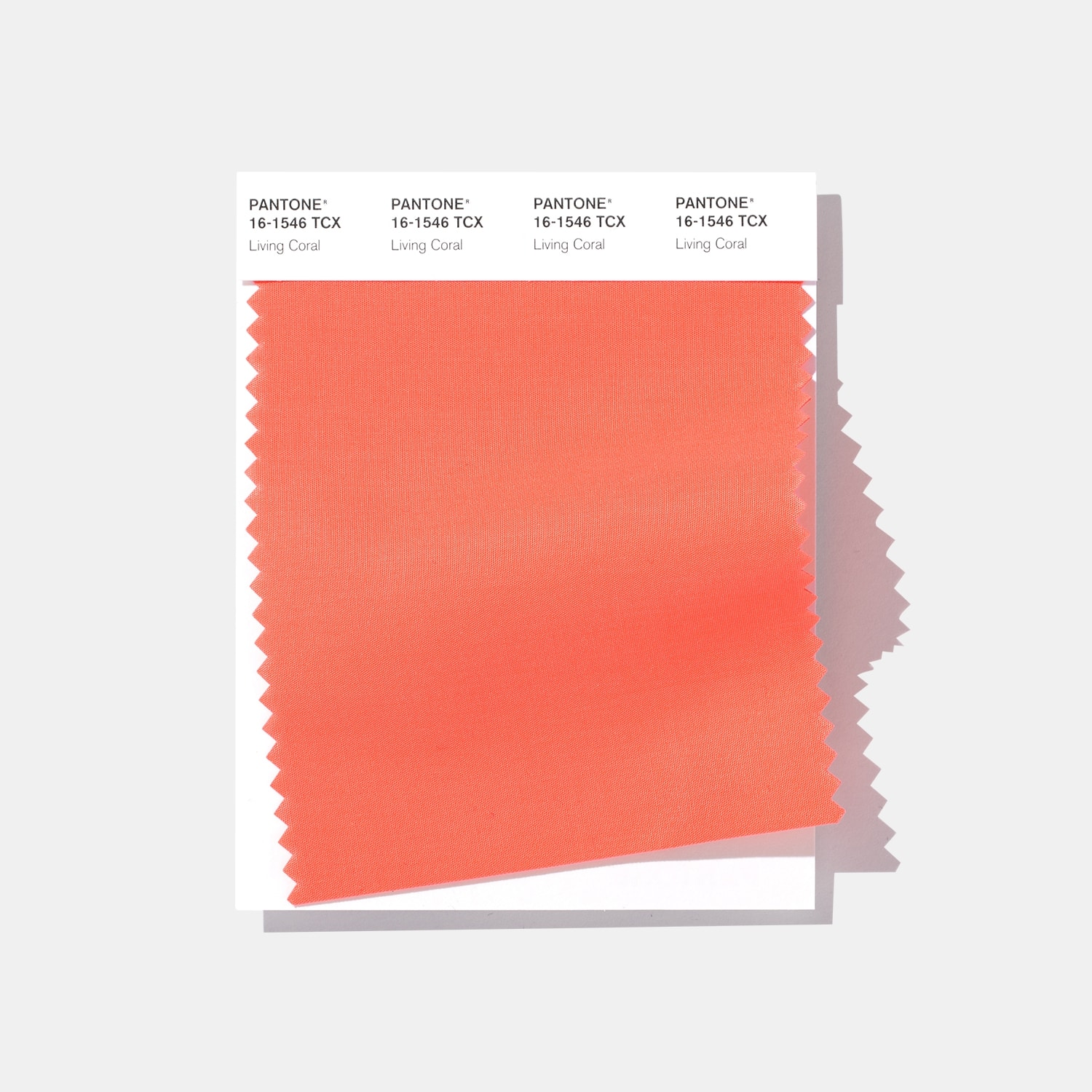 SWCD pantone fashion home interiors tcx cotton swatch color of the year 2019 living coral