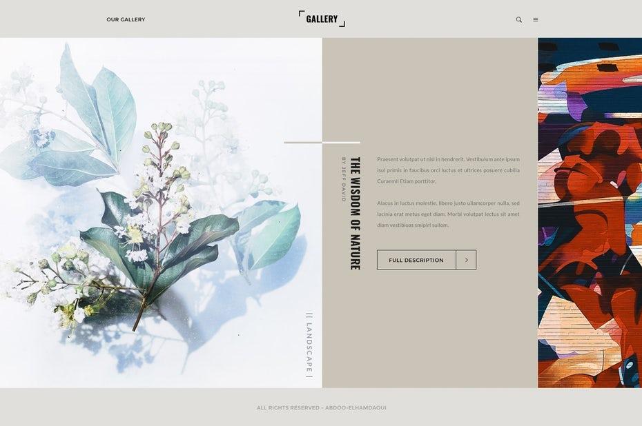 asymetric webdesign