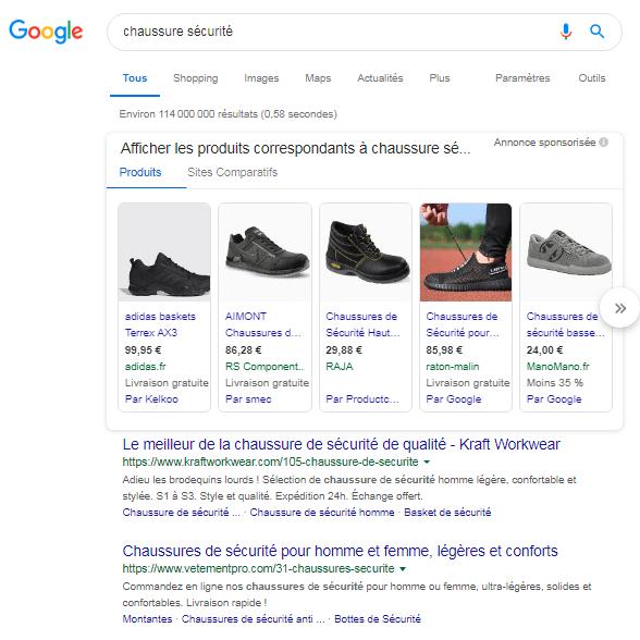 fiche produit google